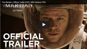 Matt Damon starring in The Martian.