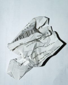 tax preparation season receipt